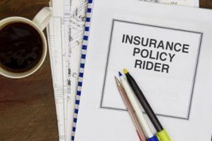 Purchase riders with every life insurance policies